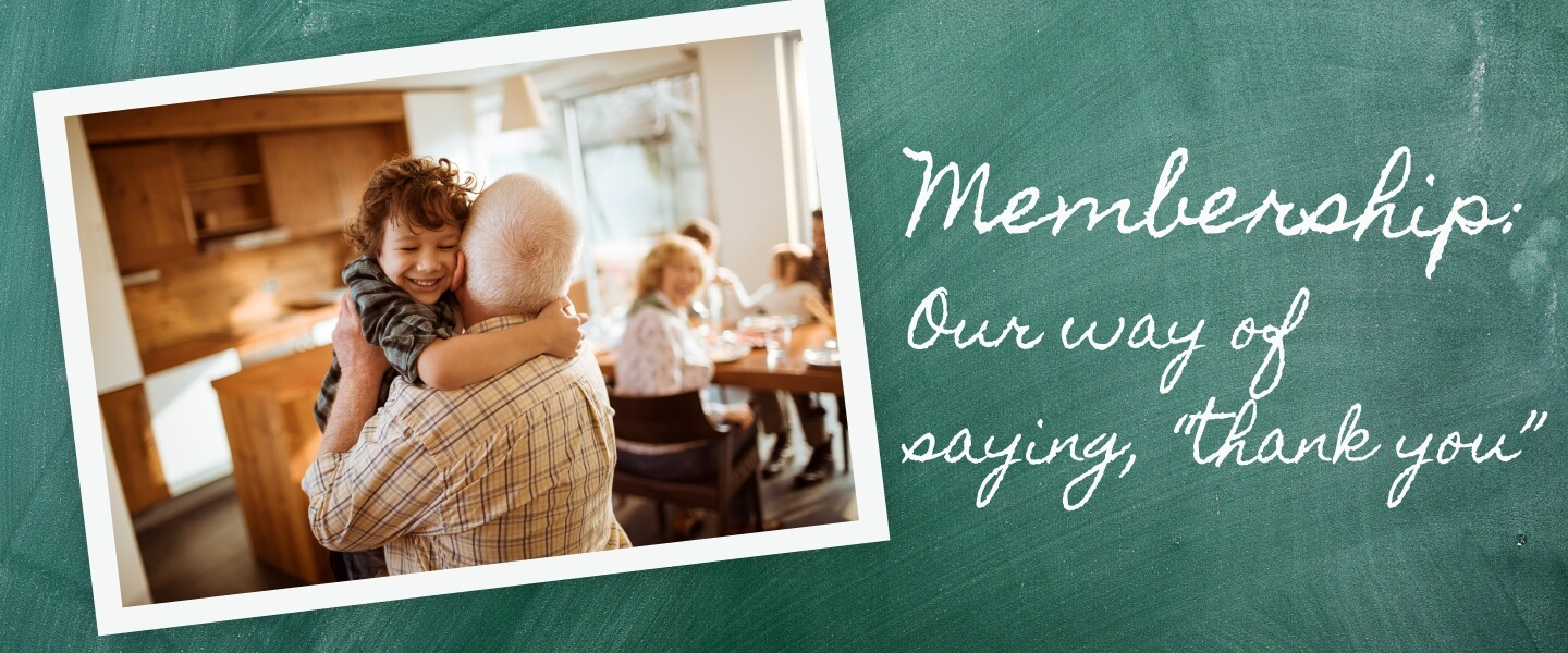 membership - our way of saying thank you