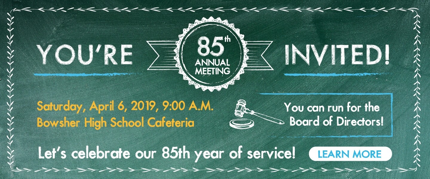You're invited to our 85th Annual Meeting - April 6, 2019