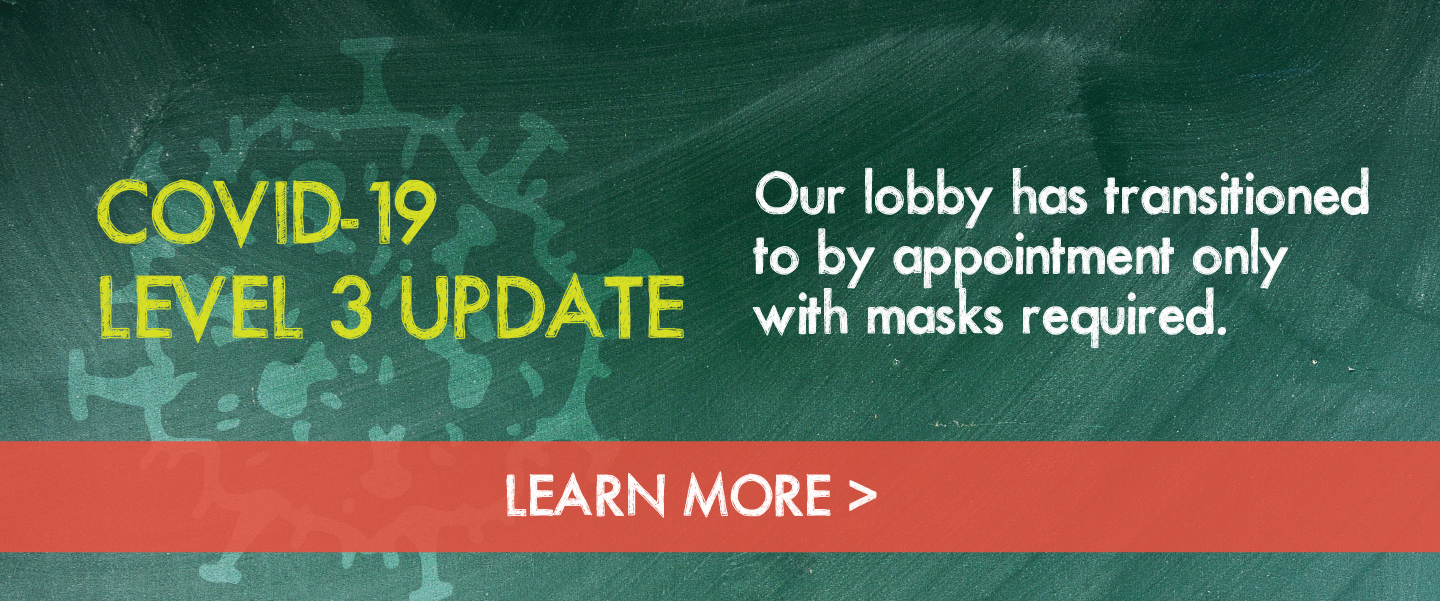 Our lobby is now open. Learn more about the steps we're taking to keep our members and staff safe.