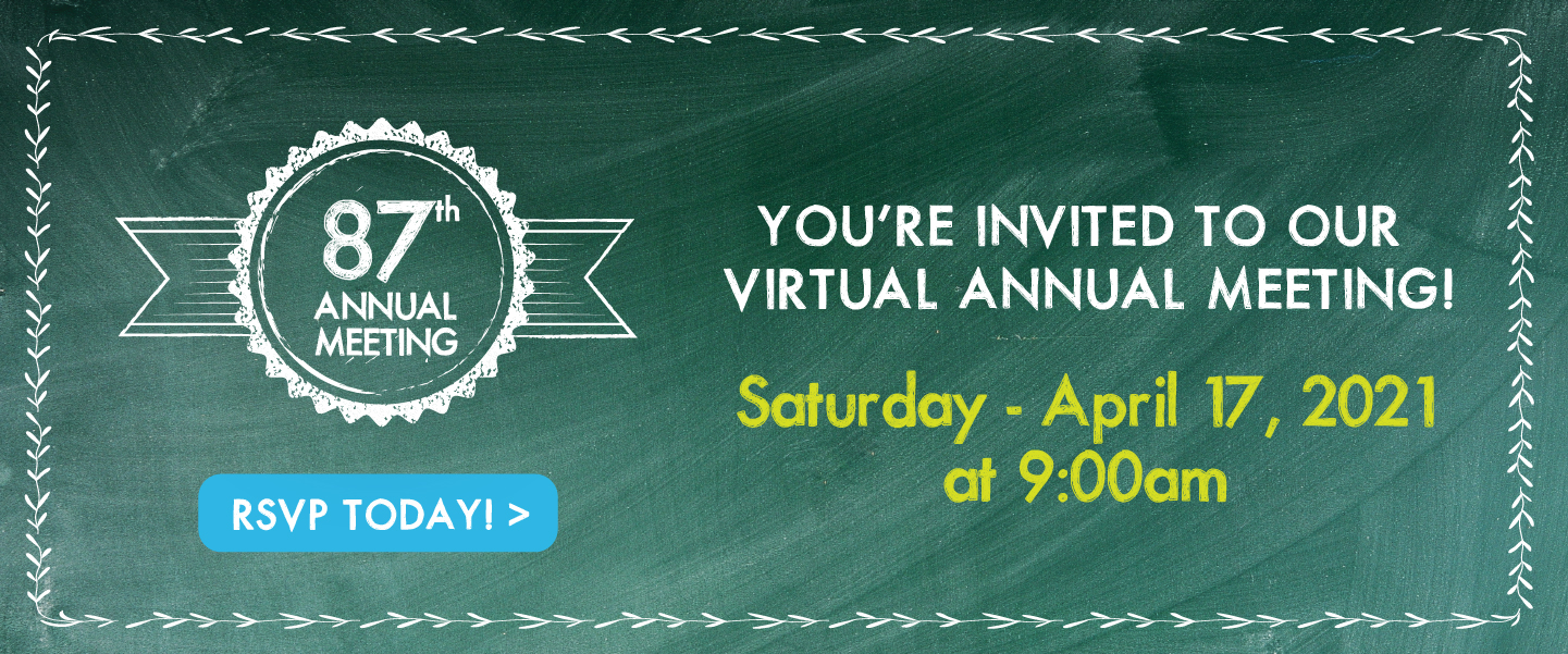 You're invited to our Virtual Annual Meeting, 4/17 at 9:00am